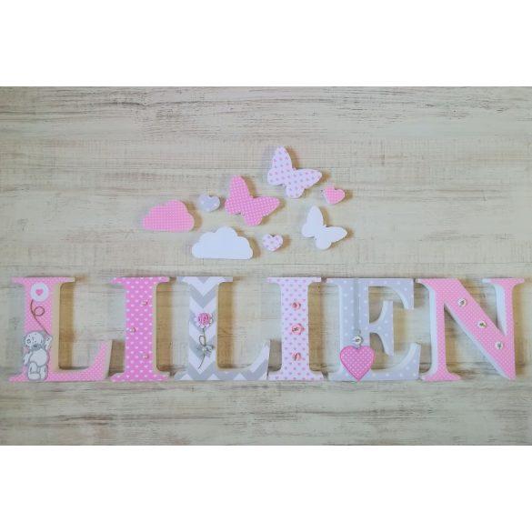 """""""LILIEN"""" stílusú dekor betűk bármilyen névvel"""