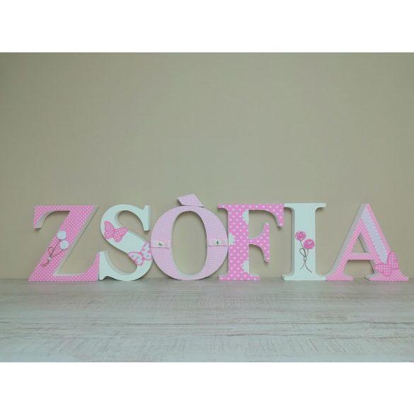 """""""ZSÓFIA"""" stílusú dekor betűk bármilyen névvel"""