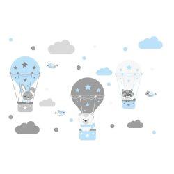 Nyuszi Bogi és barátai falmatrica kék