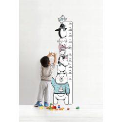 Cuki állatos magasságmérő