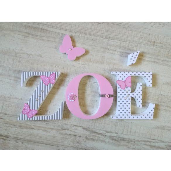 """""""Zoé"""" stílusú dekor betűk bármilyen névvel"""