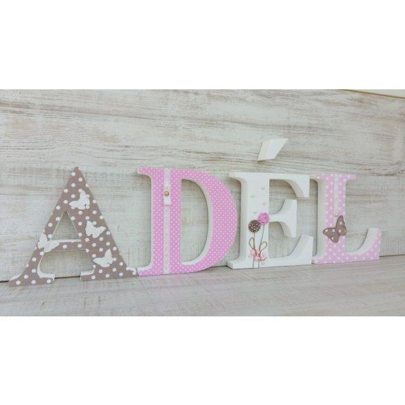 ADÉL stílusú dekor betűk