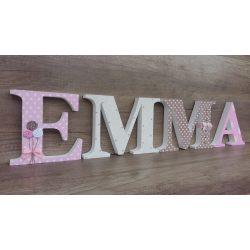EMMA stílusú dekor betűk