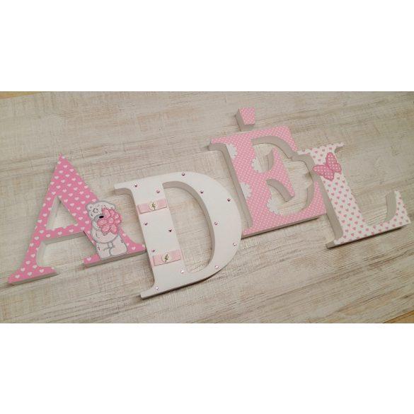 Virágos macis stílusú dekor betűk