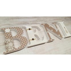 Barnás - bézses BENI stílusú dekor betűk