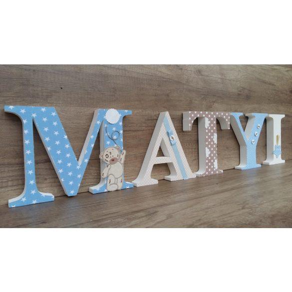 Csillagos MATYI stílusú dekor betűk