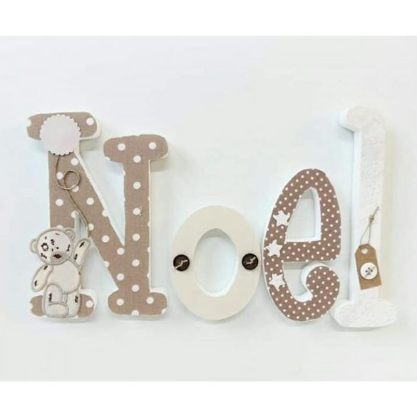 "Barna""Noel"" stílusú dekor betűk"