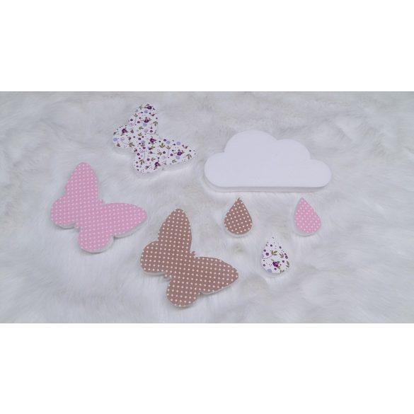 Pillangós felhős dekor csomag