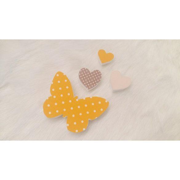 Szívecskés pillangós dekor csomag