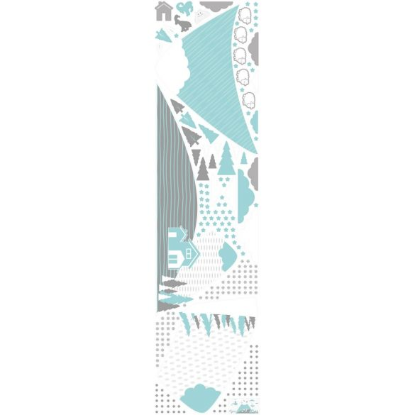 Hegyvidék  falmatrica szett kék XXL méret