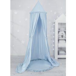 Baldachin fodros szőnyeggel kék