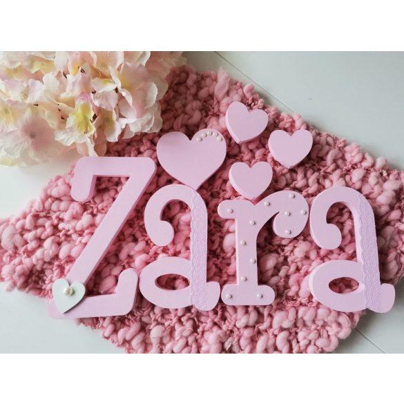 """""""Zara"""" minimál stílusú dekor betűk bármilyen névvel!"""