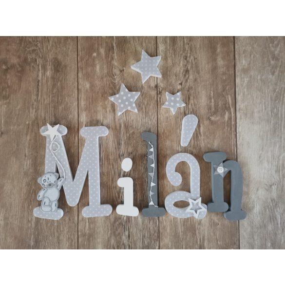 """""""Milán"""" stílusú dekor betűk bármilyen névvel!"""