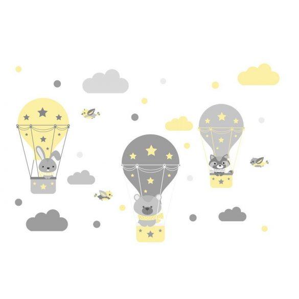 Nyuszi Bogi és barátai falmatrica sárga