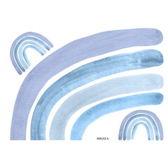 Szivárványos falmatrica kék 180cm XXL