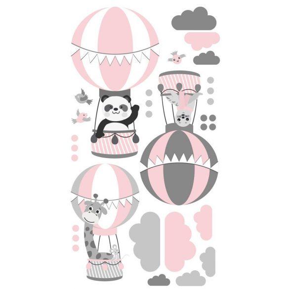 Zsiráf Fáni és barátai falmatrica rózsaszín