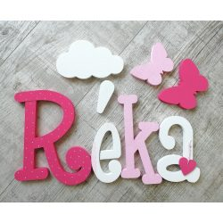 """""""Réka"""" minimál stílusú dekor betűk bármilyen névvel!"""