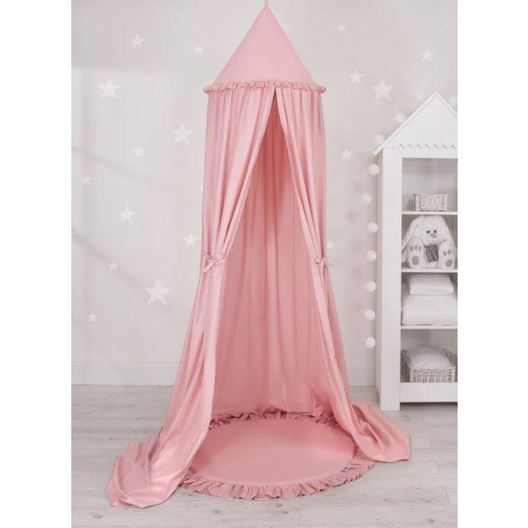 Baldachin fodros szőnyeggel fáradt rózsaszín