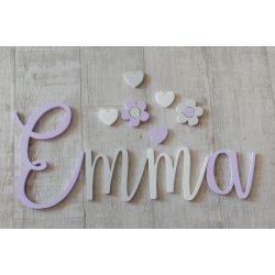 Minimál,Emma stílusú betűk bármilyen névvel!