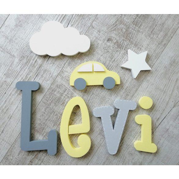 """""""Levi"""" minimál stílusú dekor betűk bármilyen névvel!"""