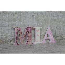 """""""MIA"""" stílusú dekor betűk bármilyen névvel"""