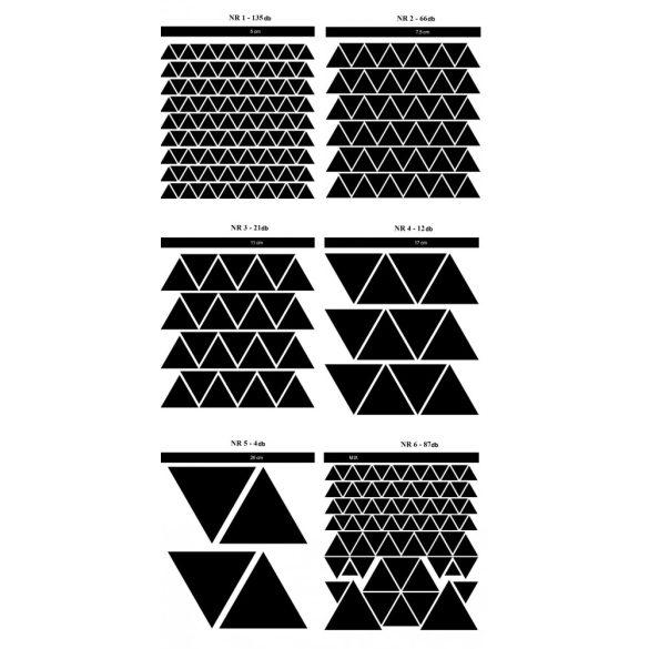 Háromszög falmatrica szett 25 színben