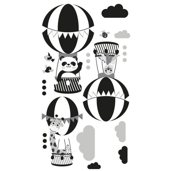 Zsiráf Fáni és barátai falmatrica fekete-fehér