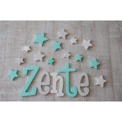"""""""Zente"""" minimál stílusú dekor betűk bármilyen névvel és színnel!"""