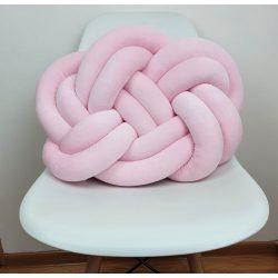 Precel csomó párna pasztell rózsaszín 40x50cm