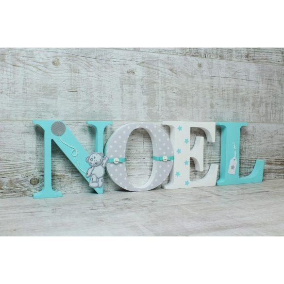 Mentás Noel stílusú dekor betűk