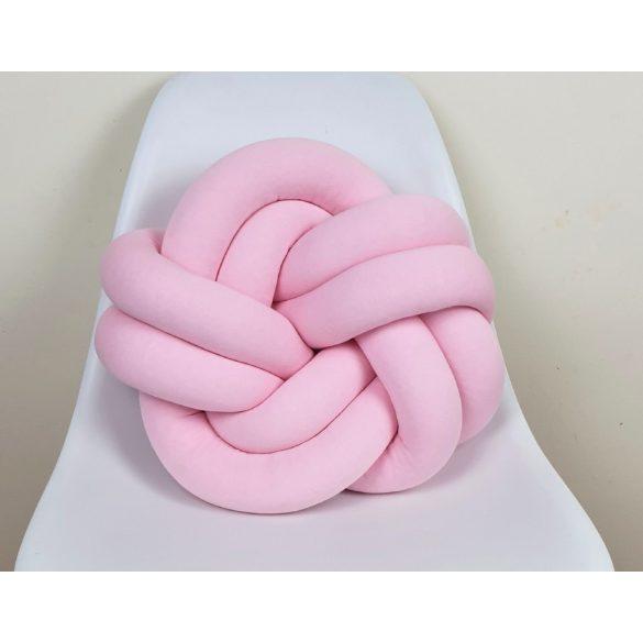 Twist csomó párna menta 40x40cm rózsaszín velúr