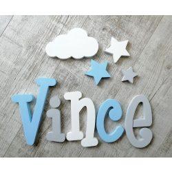 """""""Vince"""" minimál stílusú dekor betűk bármilyen névvel!"""
