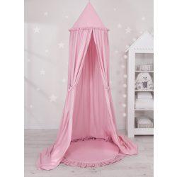 Baldachin fodros szőnyeggel rózsaszín