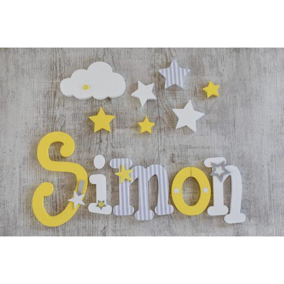 """""""Simon"""" stílusú dekor betűk bármilyen névvel!"""
