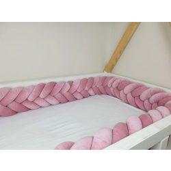 Fonott rácsvédő (kalász) több méretben piszkos rózsaszín