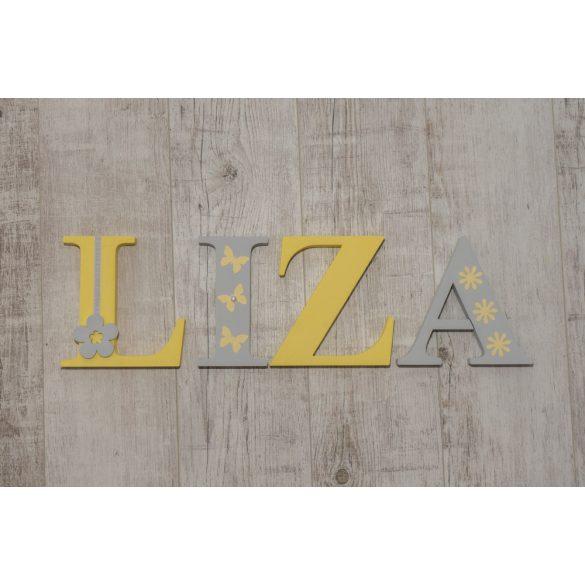"""""""LIZA"""" stílusú dekor betűk bármilyen névvel"""