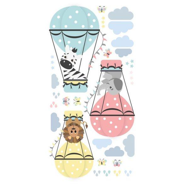 Zebra Zénó és barátai falmatrica pasztell