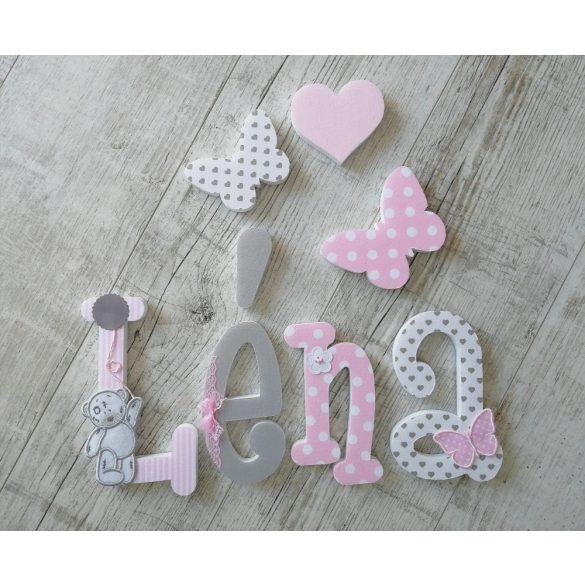 """""""Léna"""" stílusú dekor betűk bármilyen névvel"""