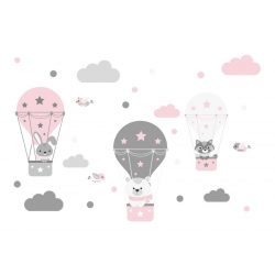 Nyuszi Bogi és barátai falmatrica rózsaszín XXL