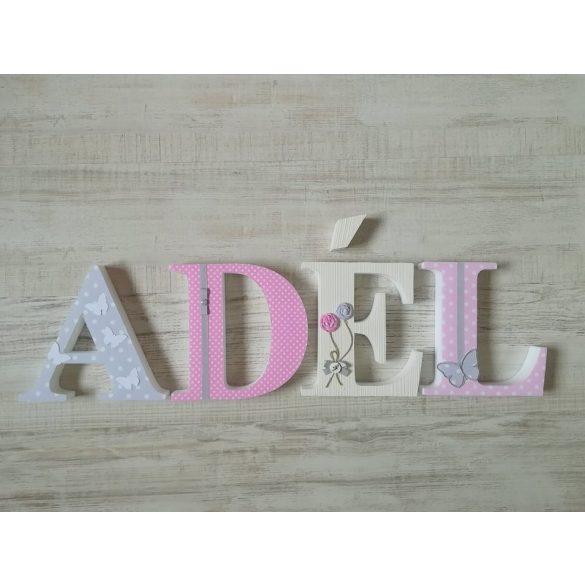 """""""ADÉL"""" stílusú dekor betűk bármilyen névvel"""