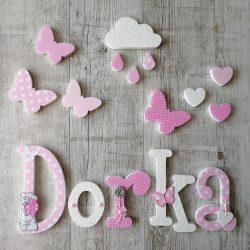 """""""Dorka"""" stílusú dekor betűk bármilyen névvel"""
