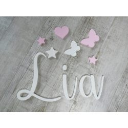 """Minimál, """"Lia"""" stílusú betűk bármilyen névvel!"""