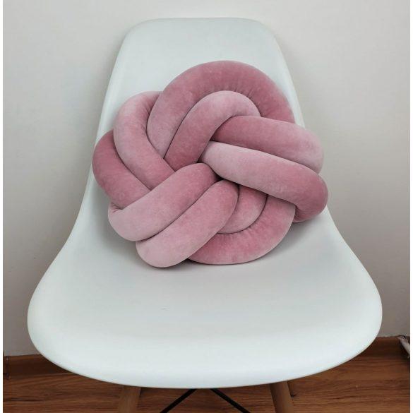 Twist csomó párna menta 40x40cm piszkos rózsaszín