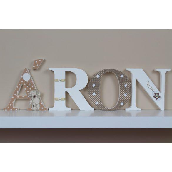 ÁRON stílusú dekor betűk bármilyen névvel!