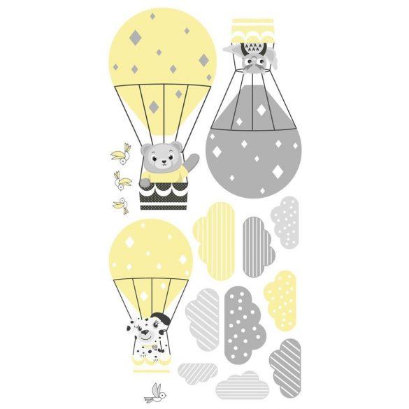 Integető macis falmatrica sárga