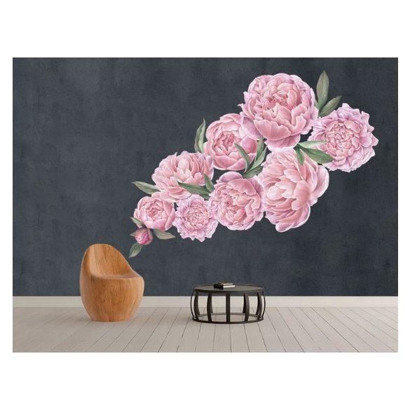 Rózsás falmatrica szett rózsaszín XXL méret