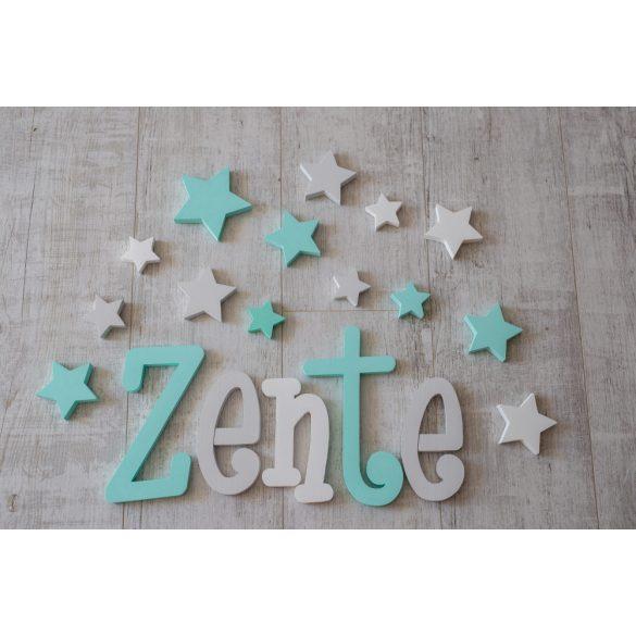 """""""Zente"""" minimál stílusú dekor betűk bármilyen névvel és színnel! AKCIÓS!"""