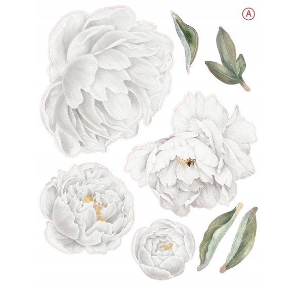 Rózsás falmatrica szett 12 rózsás