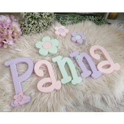 Panna stílusú dekorbetűk bármilyen névvel!