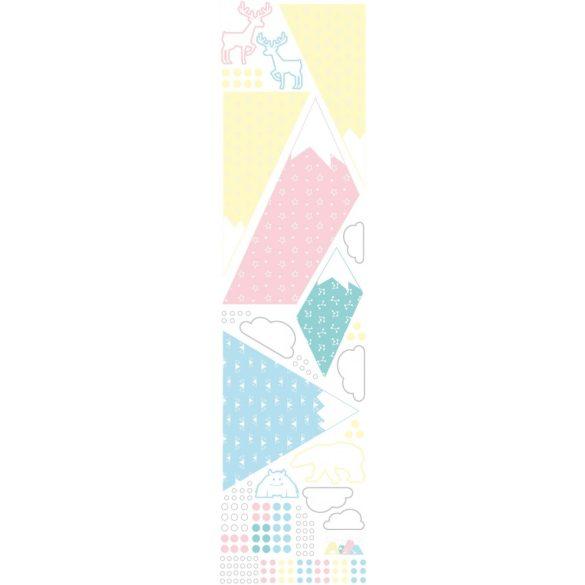 Hegyvidék  falmatrica szett pasztell  XXL méret